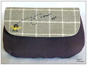 Косметичка Маленькая пчелка. | Ярмарка Мастеров - ручная работа, handmade