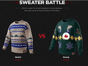Битва Рождественских свитеров | Ярмарка Мастеров - ручная работа, handmade