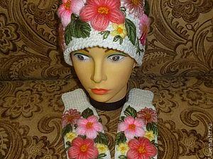 Объемная вышивка | Ярмарка Мастеров - ручная работа, handmade