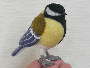 Мастер-класс по валянию птицы-синицы   Ярмарка Мастеров - ручная работа, handmade