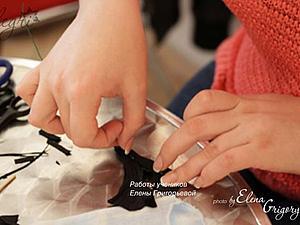 Ирис из натуральной кожи от Елены Григорьевой (elegri).   Ярмарка Мастеров - ручная работа, handmade