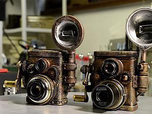 Видео мастер-класс: «Подарок для фотографа» в стиле стимпанк из полимерной глины. Часть вторая. Ярмарка Мастеров - ручная работа, handmade.