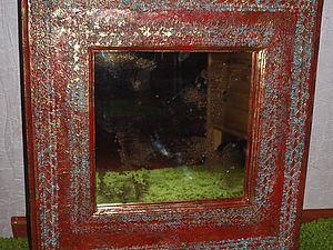 Старинное зеркало   Ярмарка Мастеров - ручная работа, handmade
