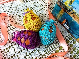 Вяжем ажурный мешочек для пасхального яйца. Ярмарка Мастеров - ручная работа, handmade.