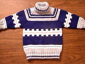 Вяжем свитер реглан сверху. Рост 104 см. Часть 1. Ярмарка Мастеров - ручная работа, handmade.