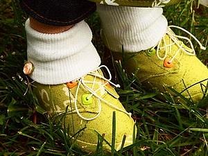 МК.. Ботинки для куклы. | Ярмарка Мастеров - ручная работа, handmade