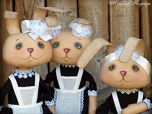 Новая серия заек - первоклашек! | Ярмарка Мастеров - ручная работа, handmade