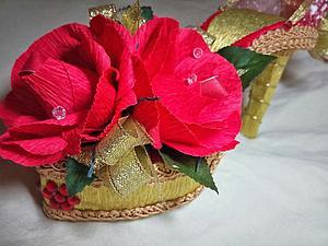 Делаем подарочную туфельку из конфет. Ярмарка Мастеров - ручная работа, handmade.