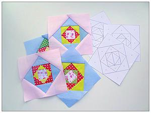 Осваиваем квилтинг: создаем блок на бумажной основе. Ярмарка Мастеров - ручная работа, handmade.