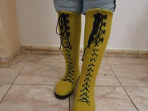 Мой отчет о Мастер-Классе Лены Бардиной по валяным ботфортам | Ярмарка Мастеров - ручная работа, handmade