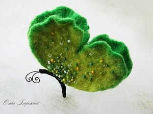 Валяем бабочку (МК брошь) | Ярмарка Мастеров - ручная работа, handmade