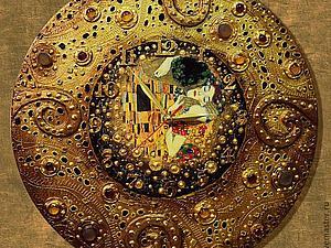 Часы по мотивам Климта  - авторский МК Натальи Полех!   Ярмарка Мастеров - ручная работа, handmade