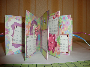 Подарочный календарь-книжка из одного листа скрапбумаги | Ярмарка Мастеров - ручная работа, handmade