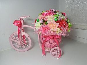 Мастер-класс: делаем цветочный велосипед. Ярмарка Мастеров - ручная работа, handmade.