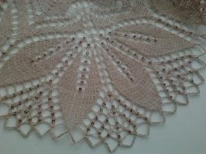 Ажурные шали с бисером-принимаю заказы! | Ярмарка Мастеров - ручная работа, handmade