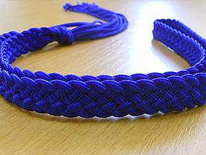 Пояс. Плетение из шнуров. Часть 2. Ярмарка Мастеров - ручная работа, handmade.