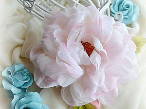 Создаем брошь-розу из шелка «Маркиза». Ярмарка Мастеров - ручная работа, handmade.