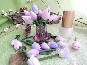 Мастер-класс: тюльпаны-крошки феи. Ярмарка Мастеров - ручная работа, handmade.
