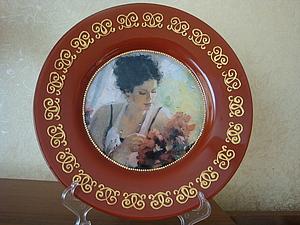 Мастер класс Декупаж Декоративной тарелки | Ярмарка Мастеров - ручная работа, handmade