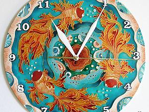 Роспись стеклянных настенных часов | Ярмарка Мастеров - ручная работа, handmade