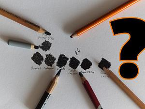 Кто чернее? Тест пастельных карандашей. Ярмарка Мастеров - ручная работа, handmade.