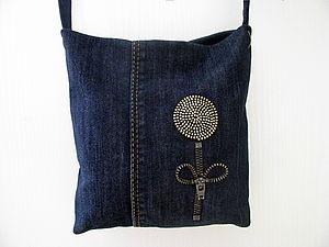 Маленькая сумочка из джинсов. Часть вторая - декорирование. Ярмарка Мастеров - ручная работа, handmade.