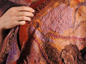 Нуно-войлок и искусственные ткани | Ярмарка Мастеров - ручная работа, handmade