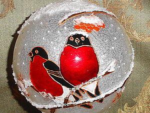 Роспись новогоднего шара своими руками