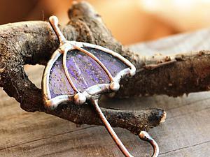 Создаем элегантную брошь «Зонт» в витражной технике. Ярмарка Мастеров - ручная работа, handmade.
