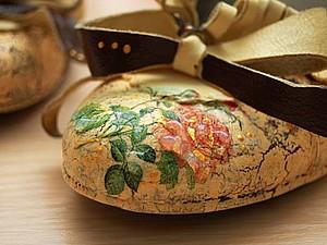 Преображение туфель. Декупаж обуви. Ярмарка Мастеров - ручная работа, handmade.