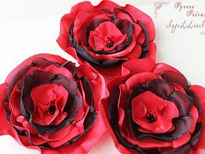 Изготавливаем цветок из ткани