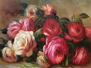 Розы в картинах художников 19-20 веков | Ярмарка Мастеров - ручная работа, handmade