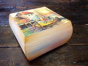 Декупаж чайной шкатулки! Работа с лаковой распечаткой и двухшаговый кракелюр! | Ярмарка Мастеров - ручная работа, handmade