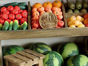 Овощи - Фрукты в миниатюре | Ярмарка Мастеров - ручная работа, handmade