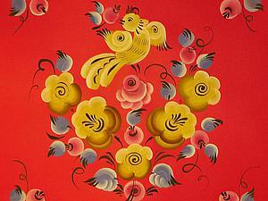Осваиваем урало-сибирскую роспись: рисуем птичку с ягодой. Ярмарка Мастеров - ручная работа, handmade.