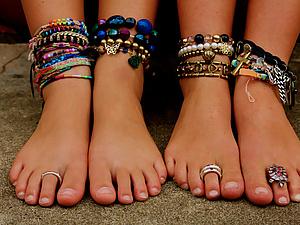 Кольца на пальцах ног для красоты и сексапильности. Ярмарка Мастеров - ручная работа, handmade.