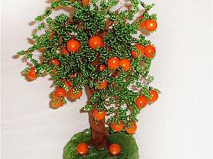 Мастер-класс «Дерево апельсин» из бисера. Ярмарка Мастеров - ручная работа, handmade.