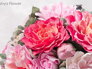 Большой букет розовых пионов. | Ярмарка Мастеров - ручная работа, handmade