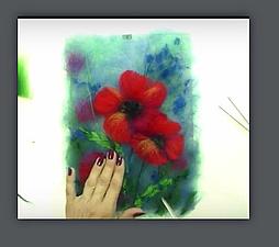 Видеоурок по созданию картины из шерсти