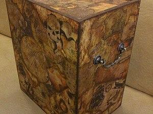Декорирование винного ящика в технике жженого декупажа. | Ярмарка Мастеров - ручная работа, handmade