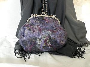 Валяем сумочку «Игра цвета». Ярмарка Мастеров - ручная работа, handmade.