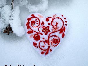 «С теплом и любовью»: создаем чудесную войлочную валентинку. Ярмарка Мастеров - ручная работа, handmade.