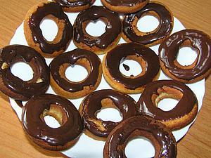 Пончики с глазурью.   Ярмарка Мастеров - ручная работа, handmade