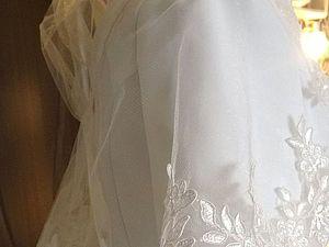 Свадебный капюшон-накидка-фата своими руками. Ярмарка Мастеров - ручная работа, handmade.