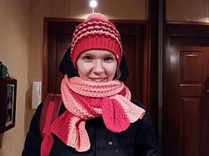 Как связать шарф французской резинкой. Ярмарка Мастеров - ручная работа, handmade.