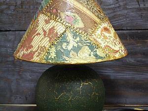 Декупажный пэчворк - имитируем лоскутное шитье! Делаем уникальную лампу! | Ярмарка Мастеров - ручная работа, handmade