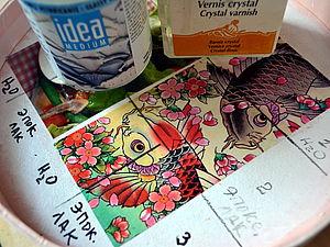 Эксперименты: струйный принтер, журнальные вырезки и акриловые лаки.   Ярмарка Мастеров - ручная работа, handmade