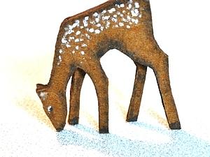 """""""Так вот ты какой, северный олень!"""": делаем новогоднее украшение. Ярмарка Мастеров - ручная работа, handmade."""