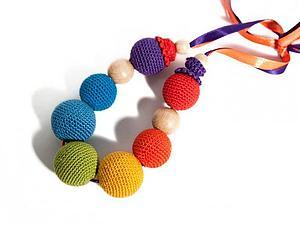 МК - вязаные бусы в эко-стиле   Ярмарка Мастеров - ручная работа, handmade