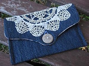 Идеи для обновления одежды: вязаные салфетки + джинс | Ярмарка Мастеров - ручная работа, handmade